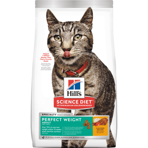 Science Diet Feline Adult Perfect Weight dry product pack